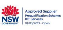 Approved Supplier <br> by the NSW Government <br> (Prequalification Scheme: ICT Services) Photo